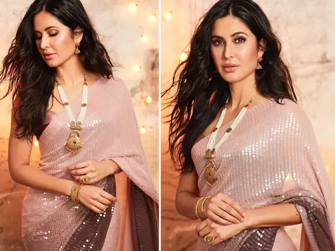 Katrina Kaif And Malaika Arora In Ombre Sarees