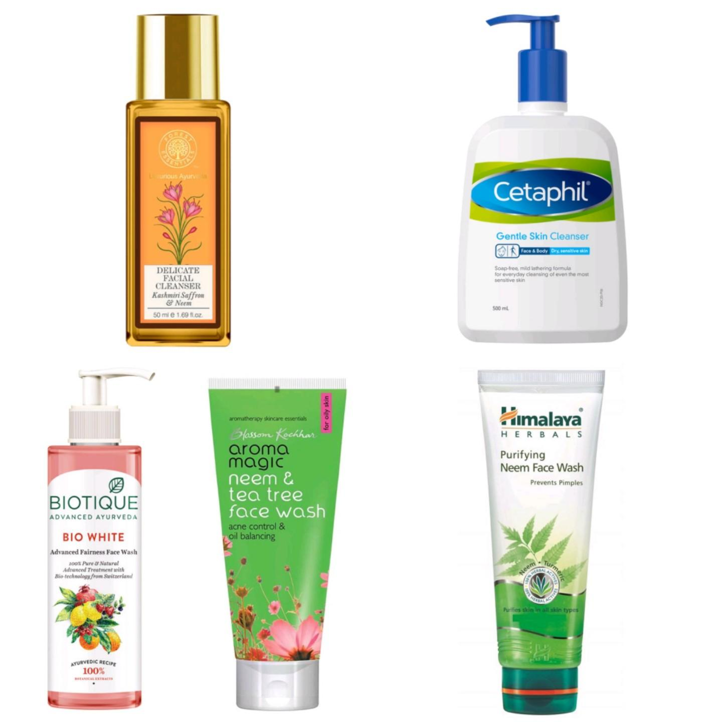 Top Five Affordable Face Washes