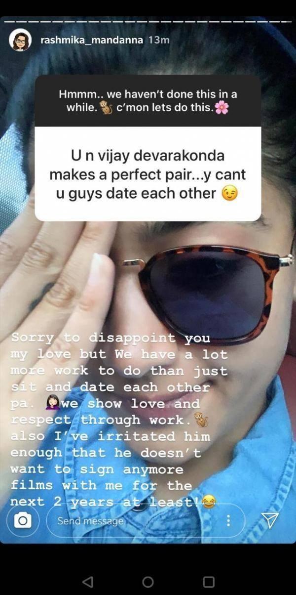 """Vijay Devarakonda Refuses To Work With Me Anymore""- Rashmika Opens up"